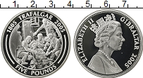 Изображение Монеты Гибралтар 5 фунтов 2005 Серебро Proof Елизавета II. 200 -