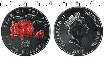 Изображение Монеты Австралия и Океания Соломоновы острова 5 долларов 2007 Серебро Proof