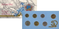 Изображение Подарочные монеты Россия Набор: 50 лет великой победы 1995  UNC Набор монет 1995 год