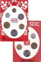 Изображение Подарочные монеты Израиль Израиль 1968 1968  UNC