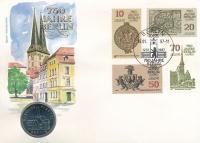 Изображение Подарочные монеты ГДР Район Берлина Николай-фиртель 1987 Медно-никель UNC