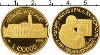 Изображение Монеты Ватикан 100000 лир 1998 Золото Proof-