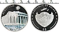 Изображение Мелочь Палау 5 долларов 2010 Серебро Proof Акрополь