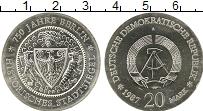 Изображение Монеты ГДР 20 марок 1987 Серебро UNC-