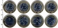 Изображение Наборы монет Бразилия Бразилия 2014 2014 Биметалл UNC В наборе 4 монеты но