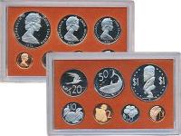 Изображение Подарочные монеты Острова Кука Выпуск 1974 года 1974  Proof