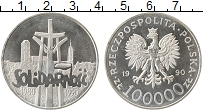 Изображение Монеты Европа Польша 100000 злотых 1990 Серебро Proof-