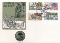 Изображение Подарочные монеты ГДР 500-летие почтовой службы Германии 1990 Медно-никель UNC