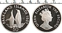 Изображение Монеты Фолклендские острова 50 пенсов 1987 Серебро Proof
