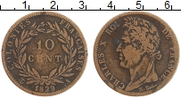 Изображение Монеты Мартиника 10 сантим 1829 Бронза VF