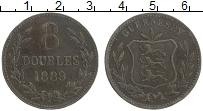 Изображение Монеты Гернси 8 дублей 1889 Медь VF Герб