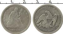 Изображение Монеты Северная Америка США 1/4 доллара 1857 Серебро VF