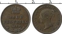 Изображение Монеты Великобритания 1/2 фартинга 1843 Медь XF Виктория