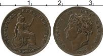 Изображение Монеты Европа Великобритания 1/3 фартинга 1827 Медь XF-