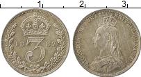 Изображение Монеты Европа Великобритания 3 пенса 1887 Серебро XF