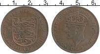 Изображение Монеты Остров Джерси 1/12 шиллинга 1947 Бронза XF Георг VI