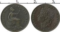 Изображение Монеты Великобритания 1/3 фартинга 1827 Медь VF