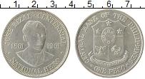 Изображение Монеты Филиппины 1 песо 1961 Серебро XF 100 - летие  Хосе  Р