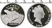 Изображение Монеты Острова Кука 2 доллара 1996 Серебро Proof- Елизавета II. Национ