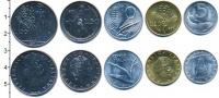 Изображение Наборы монет Италия Италия 1970 1971  UNC- В наборе 5 монет ном
