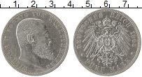 Изображение Монеты Германия Вюртемберг 5 марок 1903 Серебро XF