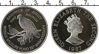 Изображение Монеты Остров Джерси 2 фунта 1987 Серебро Proof Елизавета II. 25 - л