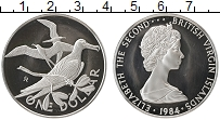Изображение Монеты Виргинские острова 1 доллар 1984 Серебро Proof