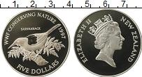 Изображение Монеты Новая Зеландия 5 долларов 1997 Серебро Proof Елизавета II. Фонд