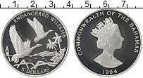 Изображение Монеты Северная Америка Багамские острова 5 долларов 1994 Серебро Proof-