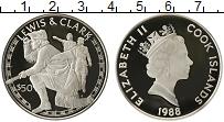 Изображение Монеты Острова Кука 50 долларов 1988 Серебро Proof-