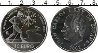 Изображение Монеты Испания 10 евро 2002 Серебро Proof- Зимние олимпийские и