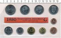 Изображение Подарочные монеты ФРГ Монеты 1980 (чеканка Карлсруэ) 1980  UNC