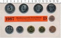 Изображение Подарочные монеты ФРГ Монеты 1987 (чеканка Мюнхена) 1987  UNC