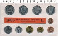 Изображение Подарочные монеты ФРГ Монеты 1983 (чеканка Карлсруэ) 1983  UNC