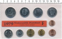 Изображение Подарочные монеты ФРГ Монеты 1979 (чеканка Штуттгарт) 1979  UNC В наборе 10 монет&nb