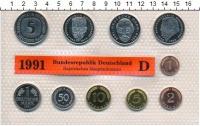 Изображение Подарочные монеты ФРГ Монеты 1991 (чеканка Мюнхена) 1991  UNC