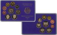 Изображение Подарочные монеты ФРГ Монеты 1989 года(чеканка Карлсруэ) 1989  Proof