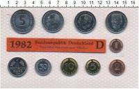 Изображение Подарочные монеты ФРГ Монеты 1982 (чеканка Мюнхена) 1982  UNC