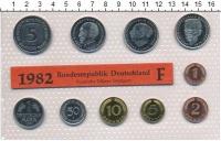 Изображение Подарочные монеты ФРГ Монеты 1982 (чеканка Штуттгарта) 1982  UNC В наборе 10 монет 19