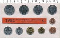 Изображение Подарочные монеты ФРГ Монеты 1982 (чеканка Карлсруэ) 1982  UNC В наборе 10 монет 19