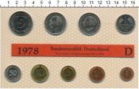 Изображение Подарочные монеты ФРГ Монеты 1978 (чеканка Мюнхен) 1978  UNC