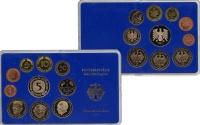 Изображение Подарочные монеты ФРГ Монеты 1982 (чеканка Гамбурга) 1982  UNC В наборе 10 монет 19