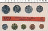 Изображение Подарочные монеты ФРГ Монеты 1975 (чеканка Карлсруэ) 1975  UNC