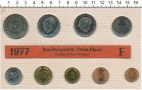 Изображение Подарочные монеты ФРГ Монеты 1977 (чеканка Штутгарт) 1977  UNC В наборе9 монет 197