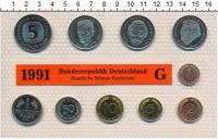 Изображение Подарочные монеты ФРГ Монеты 1991 (чеканка Карлсруэ) 1991  UNC