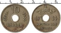 Изображение Монеты Германия Немецкая Африка 10 хеллеров 1914 Медно-никель XF