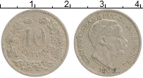 Изображение Монеты Люксембург 10 сантим 1901 Медно-никель  Адольф.