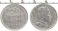 Изображение Монеты Монако 1 франк 1978 Медно-никель XF