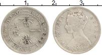 Изображение Монеты Гонконг 10 центов 1898 Серебро VF