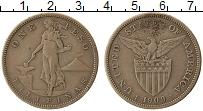 Изображение Монеты Азия Филиппины 1 песо 1909 Серебро XF